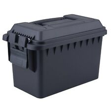 Magnum 50 Cal Tactical Ammo Box, Black, Heavy Duty Reinforced Polypropylene