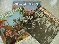 "Village People  3 LP LOT  ""Cruisin, Village People, & Go West""   w/Poster"