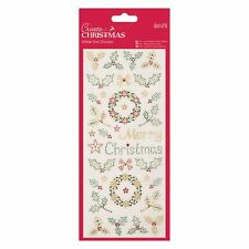 Docraft Papermania Glitter Dot Stickers -Christmas Holly for cards and crafts