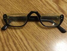 Vintage Eyeglasses Vam Plastic Full Frame Funky Reading Readers Solid!