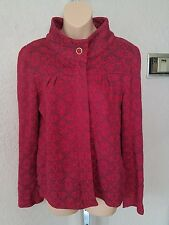 DC womens size M red full zip floral print sweater