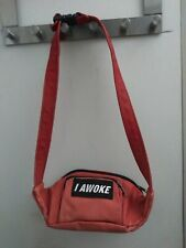Red Leather Fanny Pack Waist Bag