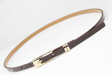 Fashion Women Lady Girl Skinny Waist Belt Thin Leather Narrow Waistband