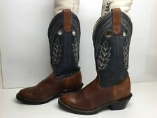 WOMENS DOUBLE-H BUCKAROO COWBOY BROWN BOOTS SIZE 7 M