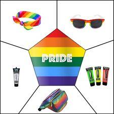 Pride Festival Fancy Dress Bandana Lennon Glasses Glitter UV Paint Bum Bag