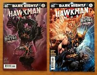 Hawkman Found 1 2017 Liam Sharp Main Cover +  Jim Lee, Scott Williams VAR DC  NM