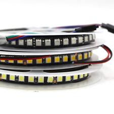 1M 5M RGB RGBW LED Strip light 5050 120leds/m black PCB Kitchen tape Lights 12v