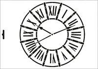 Wandschablone Maler T-shirt Schablone W-430 Uhr ~ UMR Design