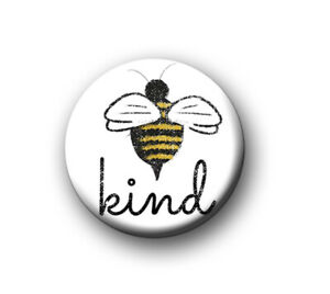 """BE KIND / 1"""" / 25mm pin button / badge / help / support / love / mental health"""