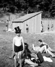 NEGATIV - 30iger Jahre Art Deco Nude Baden Maiden Girl Boy Freizeit