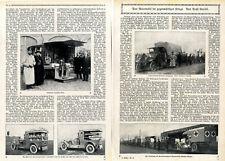 Sonderzug mit Krankentransport-Automobilen Mathis-Wagen Mercedes-Sanka von 1915
