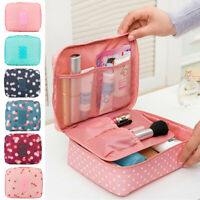 Multifunction Makeup Case Women Travel Cosmetic Pouch Toiletry Organizer Bag New