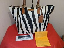 BNWT Dooney Bourke Serengeti Black White Tulip Shopper Tote Bag Shoulderbag