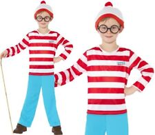 Childrens Boys Where's Wally Fancy Dress Costume, Hat & Glasses New by Smiffys