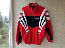 Adidas Red Fleece 1990/95 Training Soccer Jacket Football Vintage Size L