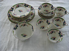 Antique Royal Albert China ADEN Pattern 20 Pieces Over 100 years old.  Plates