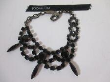 JOOMI LIM Black Crystal Spike Bracelet NWOT $195