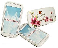 Design No.5 Silikon TPU Handy Cover Case + Displayschutzfolie für HTC One S
