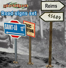 """Dragon Models Cyber Hobby 1/6 Scale 12"""" WWII German Road Signs Set 1  71294"""