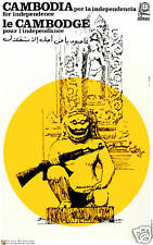 """Political POSTER""""Cambodia Temple""""Asia Cold War Khmer Rouge Pol Pot Art.as04"""
