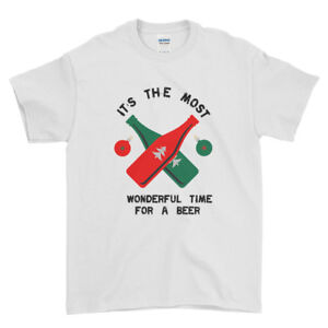 Christmas Its The Most Wonderful Time For Beer  Mens Womens T-Shirt