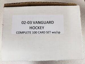 02-03 VANGUARD HOCKEY COMPLETE 100 CARD SET wo/sp LEMIEUX - YZERMAN+