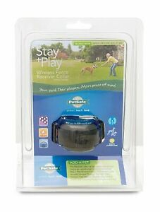 PIF00-14288 PetSafe Stay+Play Wireless Rechargeable Fence Collar with Charger
