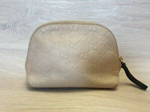 Auth GUCCI GG Pattern Pouch Accessory case Cosmetics bag Makeup pouch 141810
