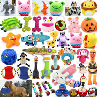 Pet Dog Chew Squeaker Squeaky Plush Silicone Toy Puppy Funny Sound Play Toys Lot