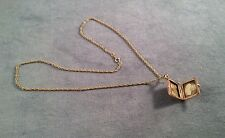 Vintage Victorian 10K Gold Locket W/Baby Picture With Hair On GF Chain