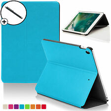Blue Clam Shell Smart Case Cover Sleeve for Apple iPad 9.7 2017 A1822 Stylus