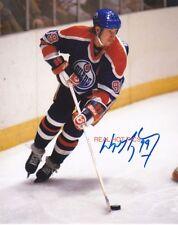 ** WAYNE GRETZKY ** Edmonton Oliers Autographed 8x10 Photo (RP)