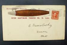 2c Fontella Cigars Peter Hauptmann Tobacco Advertising Cover Aug 25, 1905 To MO