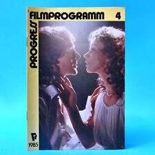 Progress-Filmprogramm 4/1985 DDR Jenny Gröllmann Klaus-Peter Thiele Jon Voight N