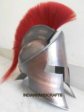 300 King Leonidas Spartan Helmet Greek Red plume Props Fightor's Replicata
