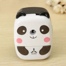 High Quality Desktop Pencil Sharpener Hand Crank Cartoon Panda Student Child Kid