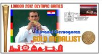 CROATIA 2012 OLYMPIC MENS SHOOTING GOLD MEDAL COVER