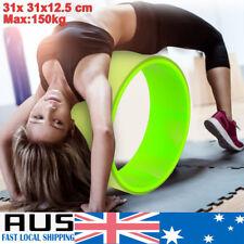 Yoga Wheel Stretch Roller Training Backbend Balance Gym Fitness Exercise Pilate