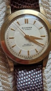 Bucherer Incabloc antimagnetic 17 jewels Gold, vergoldet? Armbanduhr Handaufzug
