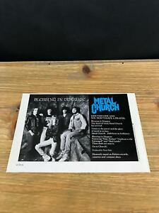1989 VINTAGE 5.5X8 ALBUM PROMO PRINT AD FOR METAL CHURCH BLESSING IN DISGUISE
