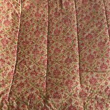 Ralph Lauren LANGHAM Original Sateen Comforter Red Camel Floral Paisley Queen