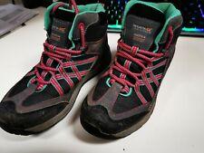 Regatta waterproof kids size 1 grey / pink walking boots - Samaris Mid Jnr