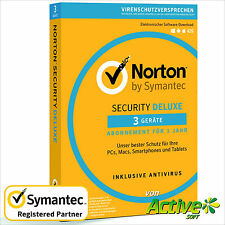 NORTON Security 2018 3 Geräte | PC ,Mac,Android,iOS| Internet Security DE-Lizenz