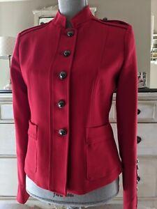 Banana Republic Women's Red Military Blazer Sz 4