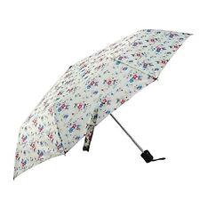 Folding Umbrella Cream Floral Summer Daisy Rain Weather Women's Girls