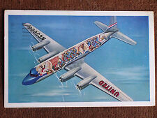 Cutaway View of United Airlines 4 Propeller Douglas DC-6B Mainliner Aircraft PC