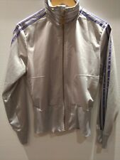 Adidas Respect Me Silver And Purple Tracksuit Top Jacket Size 42 Small to Medium