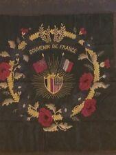 World War 1 Framed Silk And Needlework Panel