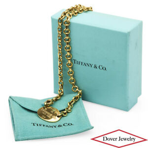 Tiffany & Co. 18K Gold Cable Chain Necklace 40.0 Grams NR