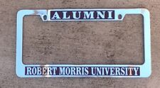 Alumni Robert Morris University license plate frame chrome NEW